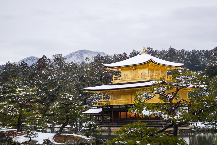 Snow-capped Golden Pavilion