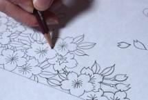 「えんぴつ」と「墨」で描くデザイン